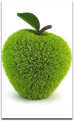 grassy green apple