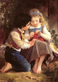 Emile Munier A Special Moment painting is available for sale; this Emile Munier A Special Moment art Painting is at a discount of off. Paintings I Love, Beautiful Paintings, Romantic Paintings, Munier, William Adolphe Bouguereau, Knit Art, Illustration, Oil Painting Reproductions, French Artists