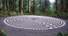 Labyrinth at Bandon Dunes. The man made look contrasted with natural setting is incredible.