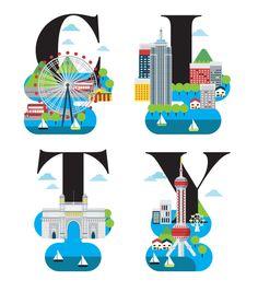 The World's Best City Magazine Illustration on Behance