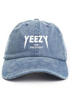Yeezy For President Denim Unstructured Hat