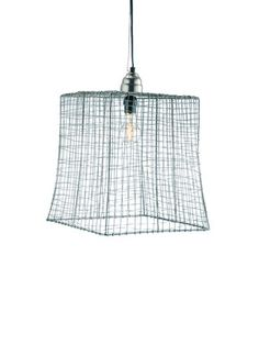 Wire Square Pendant Lamp by Barreveld on Gilt Home.  Maybe for the little house cocina y bano?