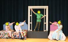 Peter Pan Jr. Costume and Set Pics. Styrofoam head boards?