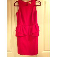 Michael Kors Peplum Dress Michael Kors red peplum dress, worn a few times, in excellent condition. Very fitted and flattering Michael Kors Dresses Mini