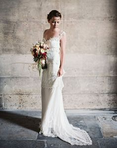 Photography by Laura Gordon // Styling by Wedding Sparrow // Flowers by Bo Boutique // Dress by Claire Pettibone