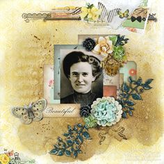 "C'est Magnifique November Kit ~ ""Beautiful"" Mixed Media Layout by Tracey Sabella. Kits are available at www.cestmagnifiqu... For project details, please stop by my blog post: http://gracescraps.blogspot.com/2014/10/hidden-staircase-for-cest-magnifique.html"