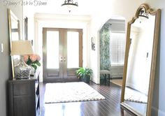 Entryway Styling via @Megan Ward {Honey We're Home}