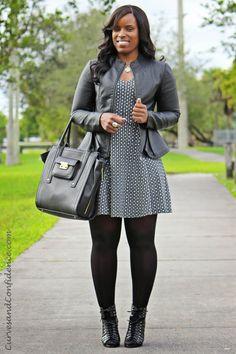 Grey Matter  | Peplum Jacket - F21 | Dress - F21 | Ankle Booties - DV Dolce Vita | Purse - Target |
