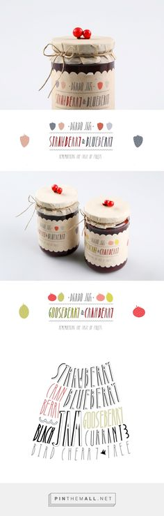 Darbo Jam Packaging; The main idea was to create the sense of home spirit & handmade. | Designed by Masha Barsukova