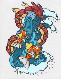 Red Gyarados tattoo by bbschoes on DeviantArt