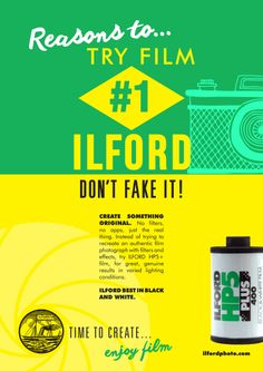 Reasons to Try Film: A Retro Poster Series by Ilford