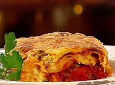 Mama's Lasagna recipe from Patrick and Gina Neely via Food Network