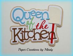 Craftecafe Mindy Cooking boy girl title premade paper piecing for scrapbook page