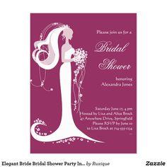Shop Elegant Bride Bridal Shower Party Invitation 3 created by Ruxique. Bridal Shower Party, Bridal Shower Invitations, Party Invitations, Elegant Bride, Create Your Own Invitations, Bridal Lace, Zazzle Invitations, Postcard Size, Card Templates