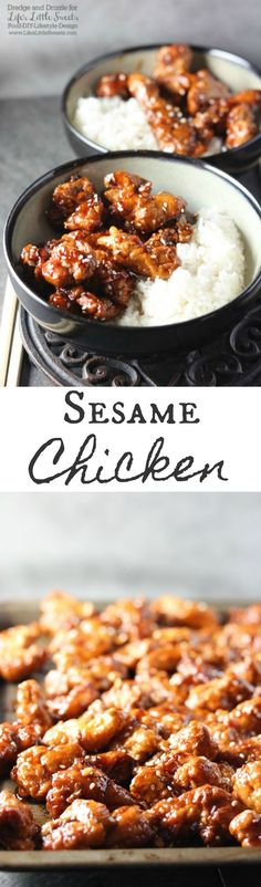 Does the price of Chinese takeout got you down? Try making your very own Sesame Chicken at home! It may take a little more time than driving to the nearest Chinese restaurant, but this labor of love is totally worth it!