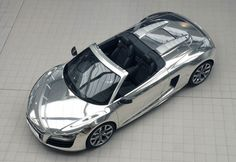 chrome Audi R8 auctioned for charity