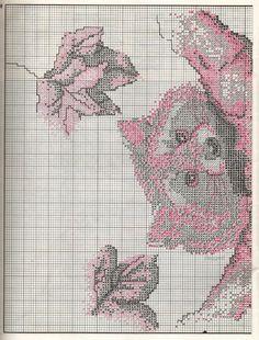 Schema punto croce Racoon1