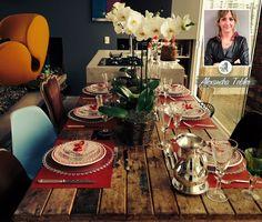 Decoração de mesa de Natal. Mesa decorada para o Natal. Decoração de mesa da Diretora de Estilo do Westwing, Alexandra Tobler. Ideias para d...
