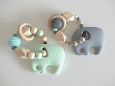 Rasseln & Greiflinge - Individueller Elefanten Greif & Beißring - ein Designerstück von Jennifereulelia bei DaWanda