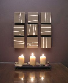 Art Deco Home Decor | Tags: Candles , Stones , Tabletop Decoration