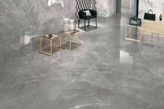 Calcutta, Anthracite and many more marble look porcelain floor tiles and wall tiles in various tile sizes, formats and finishes. Marble Floor Kitchen, Marble Look Tile, Living Room Tiles Design, Living Room Flooring, Italian Marble Flooring, Italian Tiles, Interior Minimalista, Bathroom Tile Designs, Piece A Vivre