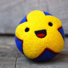 Custom for Sophie Needle Felted Star Ball WOOLY Toy by asherjasper