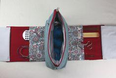 TO GO Knitting Project Bag, Stricktasche, Handarbeitstasche, Handarbeitskorb, Strickkorb von Kaepseles auf Etsy