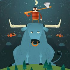 Paul Bunyan and Babe the ox, our Minnesota mascots!