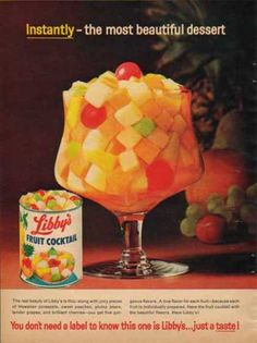 Libby's fruit cocktail WHAT a great thing for a DIET..bet the Christmas dress looks AWESOME..LOLZ..