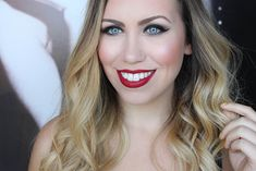 Plum and Brown Smoky Eye   Berry Red Lipstick   Holiday Makeup Tutorial on Living After Midnite Beauty by Jackie Giardina