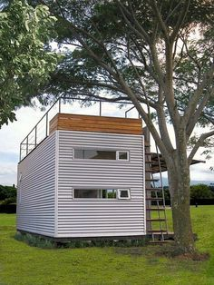 Casa Cúbica - a 160 Sq Ft shipping container home made by Cubica, a construction and design company based in Costa Rica.