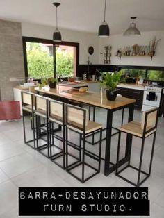Welded Furniture, Iron Furniture, Steel Furniture, Home Decor Furniture, Rustic Furniture, Furniture Design, Modern Industrial Furniture, Industrial Kitchen Design, Modern Kitchen Design