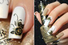Golden Flower Manicure