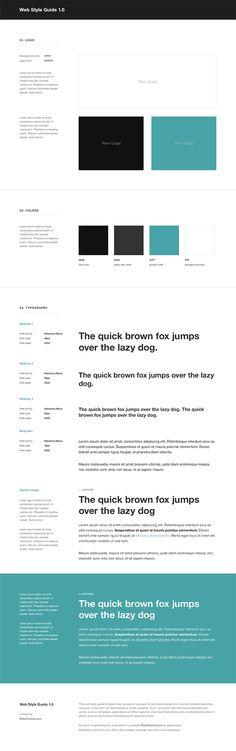 Web Style Guide Template - RafalTomal.com #styleguide #ui