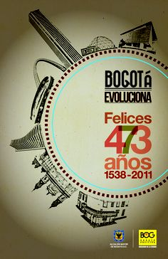Poster. Bogota anniversary