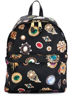 Moschino jewel print backpack