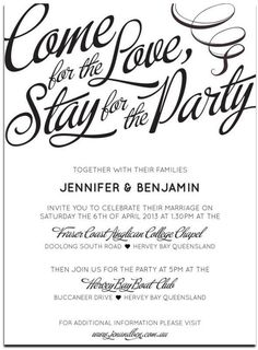 Informal Wedding Invitations