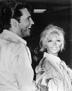 Elvis with close friend and co-star, Nancy Sinatra on set of Speedway. Nancy Sinatra, Norman, Oncle Sam, Elvis Und Priscilla, Elvis Today, Movie Co, Elvis Presley Photos, Victoria, Movie Photo