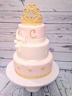 Princess Cake in Blush Pink and Gold, by Any Hart