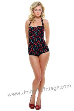 Sooo getting a vintage bathing suit like this for summer!