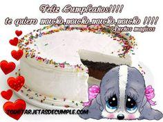 imágenes de feliz cumpleaños te quiero mucho mucho Happy Birthday, Birthday Cake, Toys, Desserts, Grande, Frases, Happy Birthday Cards, Birthday Cakes, Congratulations Card