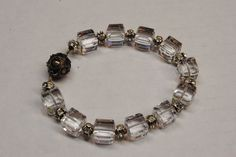 swarovski crystal bracelet with magnetic clasp  8 inches pre-owned #Swarovski