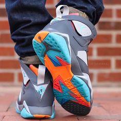 "Air Jordan 7 Retro ""Barcelona Day"" are available at swiftkickz.com ( via @detailedkickz) | #swiftkickz Michael Jordan Shoes, Jordan 7, Air Jordan Shoes, Jordan Sneakers, Basketball Shoes For Men, Sports Shoes, Shoe City, Popular Sneakers, Jordan Fashions"