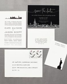 Hello!Lucky New York Skyline invitation featured in Martha Stewart Weddings!