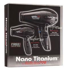 Babyliss Pro Portofino Pro Hair Dryer Nano Titanium Portofino Black Combo  Pack 951cbb026092