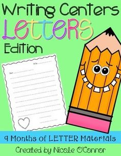 Letter writing paper for every month of the school year!
