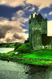 Dunguaire Castle, Ireland, near Kinvarra in County Galway built in 1520 by the Hynes clan that had ties to land since 662. The Lord of the castle was rumored to be very generous & continues his acts today, if a person stands at the front gate with a question, they will have an answer by days end!53.143,-8.939