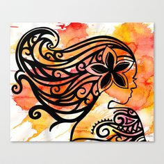 LOVE!!!!  Teine on Watercolor Stretched Canvas by Lonica Photography & Poly Designs - $85.00