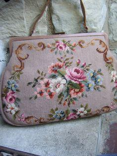 Romantic+Flower+Large+Needlepoint+Handbag+by+worldmarketproductio,+$78.00