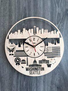 Colorado New Design Vinyl Wall Clock City Skyline Office Home Room Decoration
